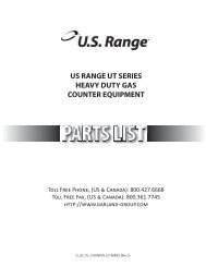 us range ut series heavy duty gas counter equipment - Parts Town
