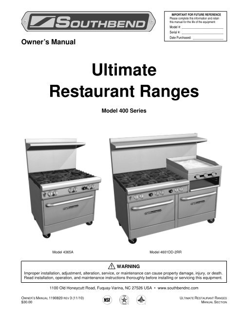 Set Of 4 Southbend Range 1174260 Leg Package