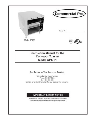 Roundup Vct 2010 Vertical Contact Toaster Parts Town