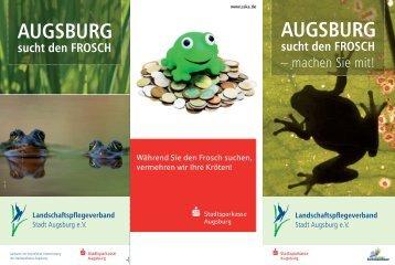 AUGSBURG sucht den FROSCH - Bayerns UrEinwohner