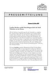 09. Februar 2007: Landrat Dorfner erhält ... - Landkreis Passau