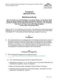 Bezirksverordnung Naturpark Entwurf LRA ... - Landkreis Passau