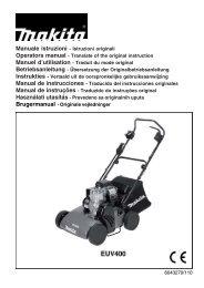 Manuale istruzioni - Istruzioni originali Operators manual ... - Dolmar