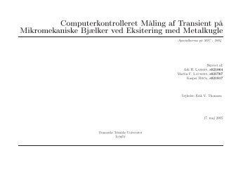 Computerkontrolleret Måling af Transient på Mikromekaniske ...