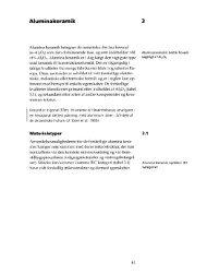 Aluminakeramik 3 - Materialer