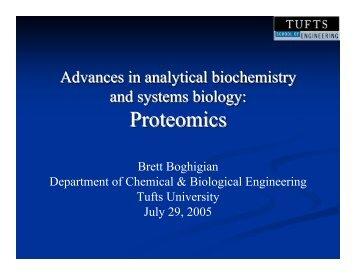 Proteomics Proteomics - OpenWetWare