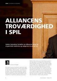 ALLIANCENS TROVæRDIGHED I SPIL - Dansk ...