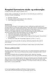 Download ordensreglerne i pdf-format - Rungsted Gymnasium