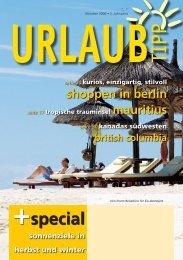Sommer 2007 - Urlaubtipp