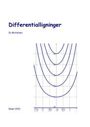 Differentialligninger