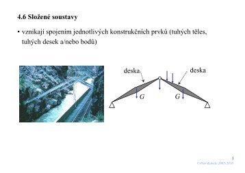 Reakce rovinné složené soustavy. - FSv ČVUT -- People