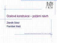Ocelové konstrukce – požární návrh - FSv ČVUT -- People