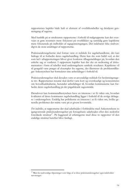 Effektmåling af praksisundersøgelser - Ankestyrelsen
