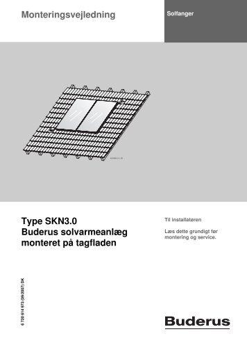Monteringsvejledning Type SKN3.0 Buderus solvarmeanlæg ...