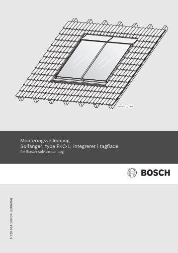 Monteringsvejledning Solfanger, type FKC-1, integreret i tagflade