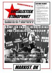 MARXIST DK - Socialistisk Standpunkt