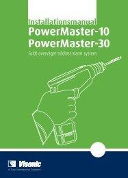 D-303902 PowerMaster-10/30 Installationsvejledning - Visonic