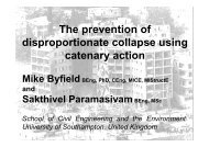 The prevention of disproportionate collapse using catenary action, M ...