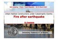 FIRE AFTER EARTHQUAKE B. Faggiano