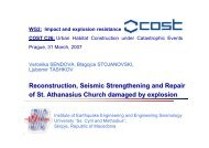 Reconstruction, Seismic Strengthening and Repair of St. Athanasius ...