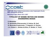 Typology of seismic motion and seismic engineering design, E ...