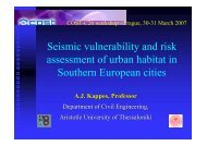 Seismic vulnerability and risk assessment of urban habitat in ...