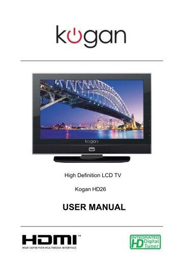plasma tv manual