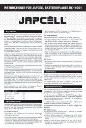 instruktioner for japcell batterioplader bc-4001 - Batteribyen.dk
