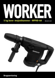5 kg bore- mejselhammer - WPHD-40 - Worker