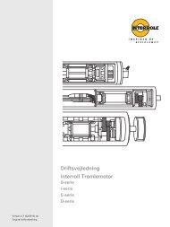 Driftsvejledning Interroll Tromlemotor