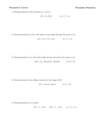Worksheets Parametric Equations Worksheet graph to equation worksheet 6 2 pdf parametric equations ship