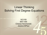 Linear Thinking Solving First Degree Equations - Ship