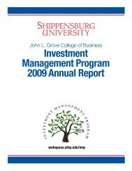 2009 Annual Report - Ship - Shippensburg University