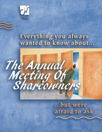 The Annual Meeting Of Shareowners - Communications Workers of ...
