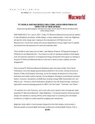 pc world and macworld welcome jason brightman as director of web ...