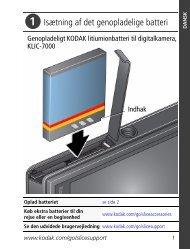 Isætning af det genopladelige batteri - Kodak