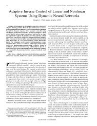 Adaptive inverse control of linear and nonlinear systems using ...