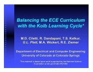 Balancing the ECE Curriculum with the Kolb Learning Cycle*