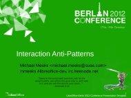 LibreOffice Berlin 2012 Conference Presentation ... - gnome.org