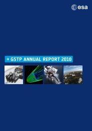 → GSTP ANNUAL REPORT 2010 - ESA
