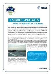 → SerreS SpatialeS - ESA