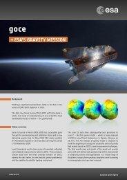 fact sheets GOCE - ESA