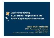Accommodating Sub-orbital Flights into the EASA Regulatory ... - ESA