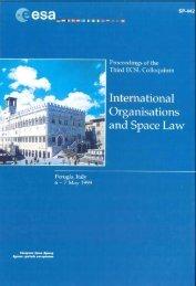 International Organizations and Space Law - ESA