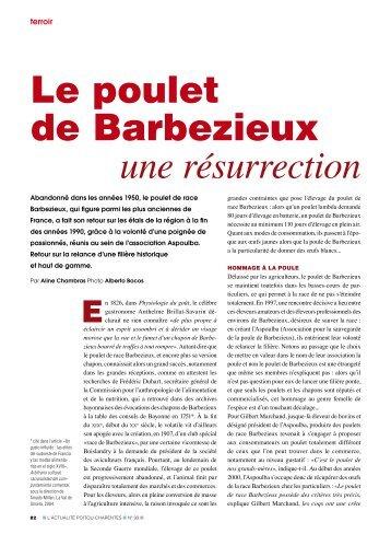 le poulet de barbezieux une résurrection - L'Actualité Poitou ...