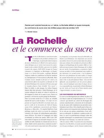 La Rochelle et le commerce du sucre - L'Actualité Poitou-Charentes