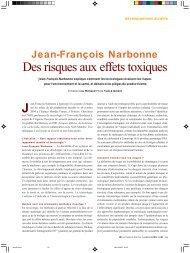 Des risques aux effets toxiques - L'Actualité Poitou-Charentes