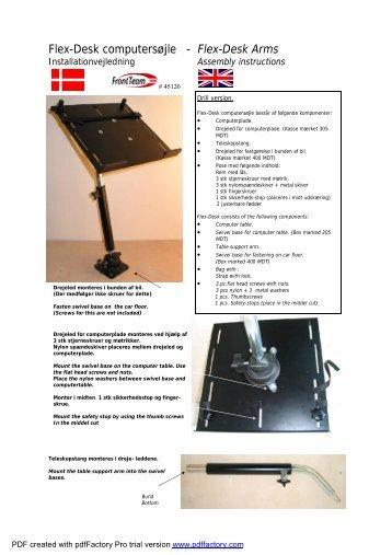Flex-Desk Arms - Laptophouders