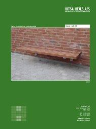 Bænk · AML/8T - Hitsa-Hejls A/S