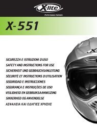 sicurezza e istruzioni d'uso safety and instructions for use ... - X-lite